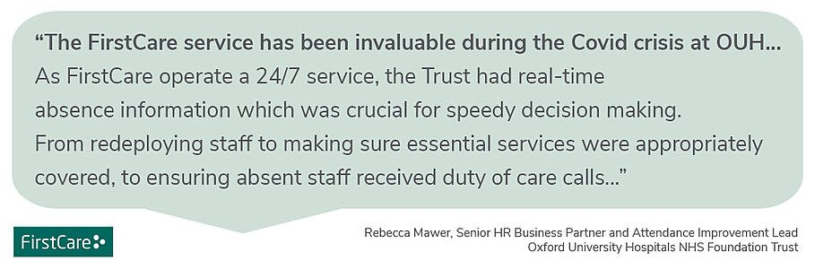 Rebecca Mawer OUH NHS quote