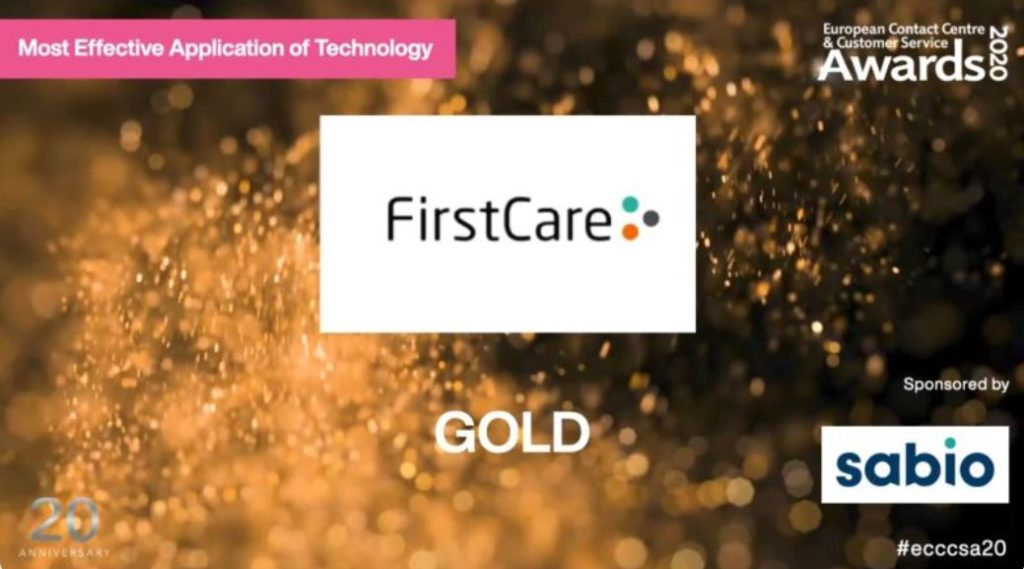 FirstCare takes Gold in the ECCCSA Awards